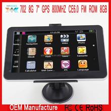 """7"""" hd mtk CAR Gps navigation navigator ce 6.0 FM ROM 8GB ddr128M 800MHZ"""