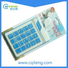 Factory New USB Wire Laptop Notbook Computer Silicone Numeric Keyboard/Keypad