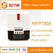 Batería de litio uso PC MPPT energía solar syetem batería 30A MPPT regulador