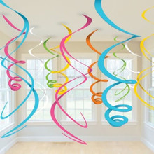 Ceiling SWIRL Hanging Decorations Baby Shower Birthday Wedding PARTY Supplies