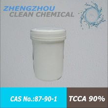 TCCA for disinfection of petroleum well drilling slurry