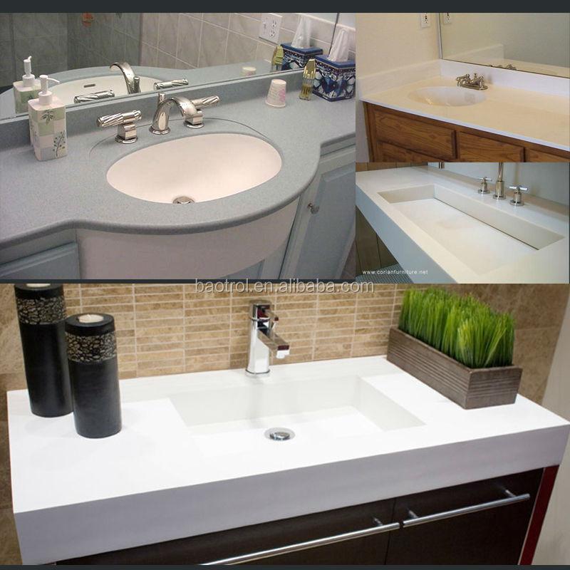 Kunststeen ijdelheden top naadloos jointed badkamer ijdelheden product id 60028399546 dutch - Aangepaste kast ...