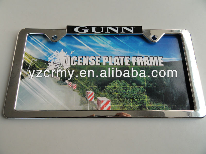 Custom license plate frames wholesales