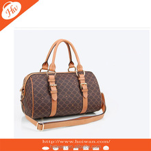 NEW fashion Top quality PU with printed lady handbag pu leather bag barrel bag