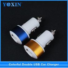 Venta caliente 5v 1a móvil usb cargador de coche, 2 puerto usb cargador para el iphone 6/samsung tabletas/teléfono inteligente