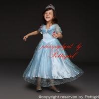 New Handmade Elegant Cinderella Girls Dresses With Butterlies Princess Costume Dress Fancy Children Clothing GD50613-1