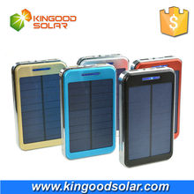 High quality Aluminum outshell portable 10000mah solar cell phone charger power bank