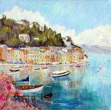 actual image show beautiful hotel decorative oil paintings wall art