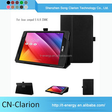"Stand Leather Case For 7 Inch Tablet Pc With Wake/Sleep Function 8"" Tablet Case For Asus zenpad S 8.0 Z580C"