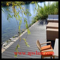 outdoor wood plastic composite boardwalk diy wpc decking for garden