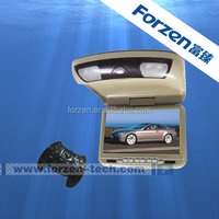Auto flip down dvd player monitor with IR FM transmitter