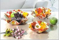 New Design Home Food grade acrylic fruit decorated snack and sandwich tray
