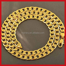 18K Yellow Gold Filled Solid Cuban Curb Chain Mens Necklace 20Inch 7mm