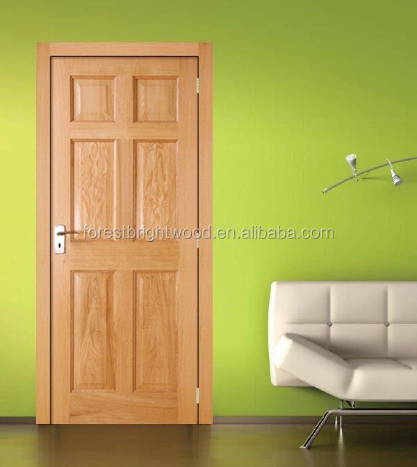 European white oak pre finished internal door interior for Wood stile and rail doors