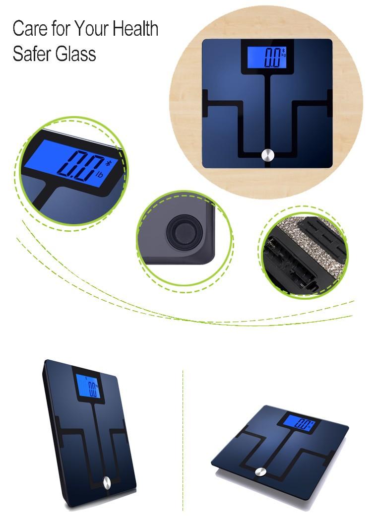 180 kg/400lb Qualidade Eletrônico Digital Banheiro Pesando Aplicativo Gratuito Do Bluetooth Sem Fio Inteligente Analisador de Gordura Corporal Escala