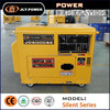 Portable air cooled single phase 5KVA generator diesel small genset with handle and wheels