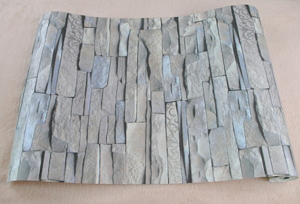 Slaapkamer Bruin Roze : Vinyl muur decoratieve 3d design behang ...