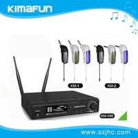 Wireless Microphone for Guitar, UHF, 6.35mm Mono Plug, Ideal for Electric Guitar, Bass, Violin