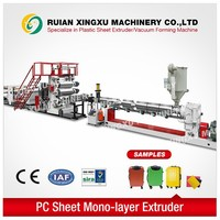 PC plastic sheet making machinery for suitcases and bags - YX-21P
