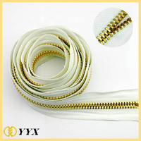 Oversize 15# Gold European Teeth Metal Zipper Roll for Luggages