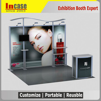 Incase 10x10 exhibition event booth design trade show booth