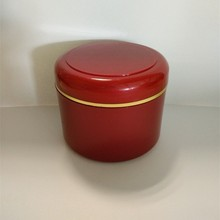 9oz High Quality red Plastic Jar with gold Line Dome Lid Cosmetic Containers