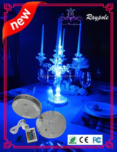 New product party supply multi color 6inch led light base for party with RGB remote control