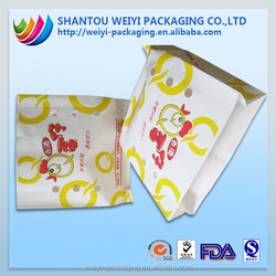 custom printing greaseproof kraft paper plastic sandwich bags colors