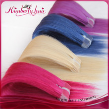Good thick russian hair us tape hair weft multi color for you choose