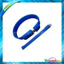 silicone rubber usb flash wrench band for gift