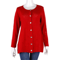 Easing of new fund of 2015 autumn winters single-breasted knitting cardigan, sweater coat dress