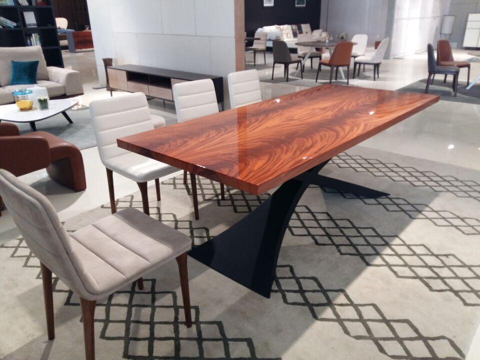 2015 design moderne salle manger meubles en acajou bois table manger table en bois id de - Design eetkamer ...