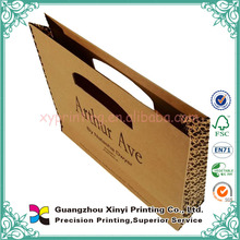 Brown kraft paper pacaging cheap eco-friendly brown paper bags wholesale with handles