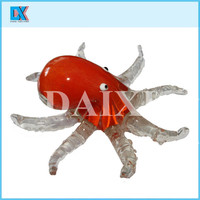 China popular colored octopus glass crafts and arts