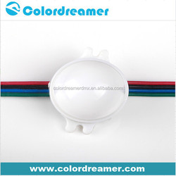 Video show 30mm diameter dmx led rgb dot with SMD5050 lights