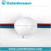 Video show 30mm diameter dmx led rgb dot with SMD5050 lights