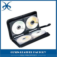 Leather CD Bags and DVD Holders fashion handmade round leather CD bag