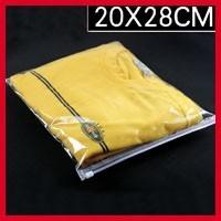 High Quality 20cm*28cm*120micron Clear PE Bags Gift Packaging Zipper Plastic Bag Custom Logo Pouches