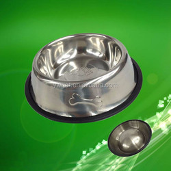 Non-Slip Stainless Steel Pet Products Dog Bowl