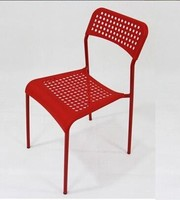 High quality modern color plastic dining chair coffee shop cafe stacking restaurant used dining chair