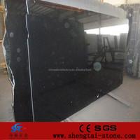 Low price Shanxi black granite slab a-frame