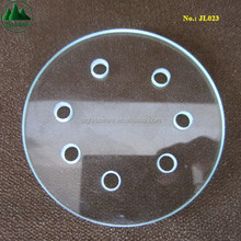 Standard Disc Donunt Hole Drilled Tough Glass Accessories and Parts for Industrial Machine