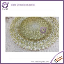 17906-2 for wedding rimmed decoration wholesale charger plate
