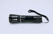 LED Aluminum Zoom Flashlight With Stepless Dimmer And Zoom Focus System