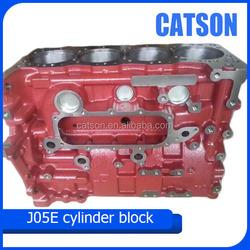 J05E engine cylinder block 11401-E0702 for Kobelco SK200-8