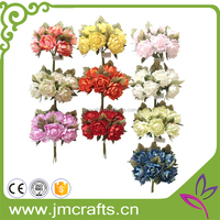 10 heads wedding decoration small head artificial dried paper flower bouquet