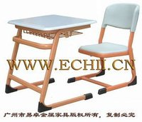 Metal and plastic school furniture desk and chair/Children school desk and chair