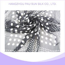 Promotional trendy cheap transparent silk scarf