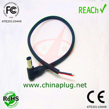 Made in china Right Angle dc power cable with 5.5mm dc plug