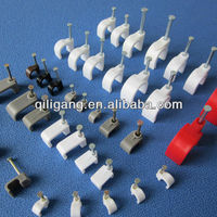 3.5-40mm Round Cable Clips,Concrete Nail,Fresh Pure White